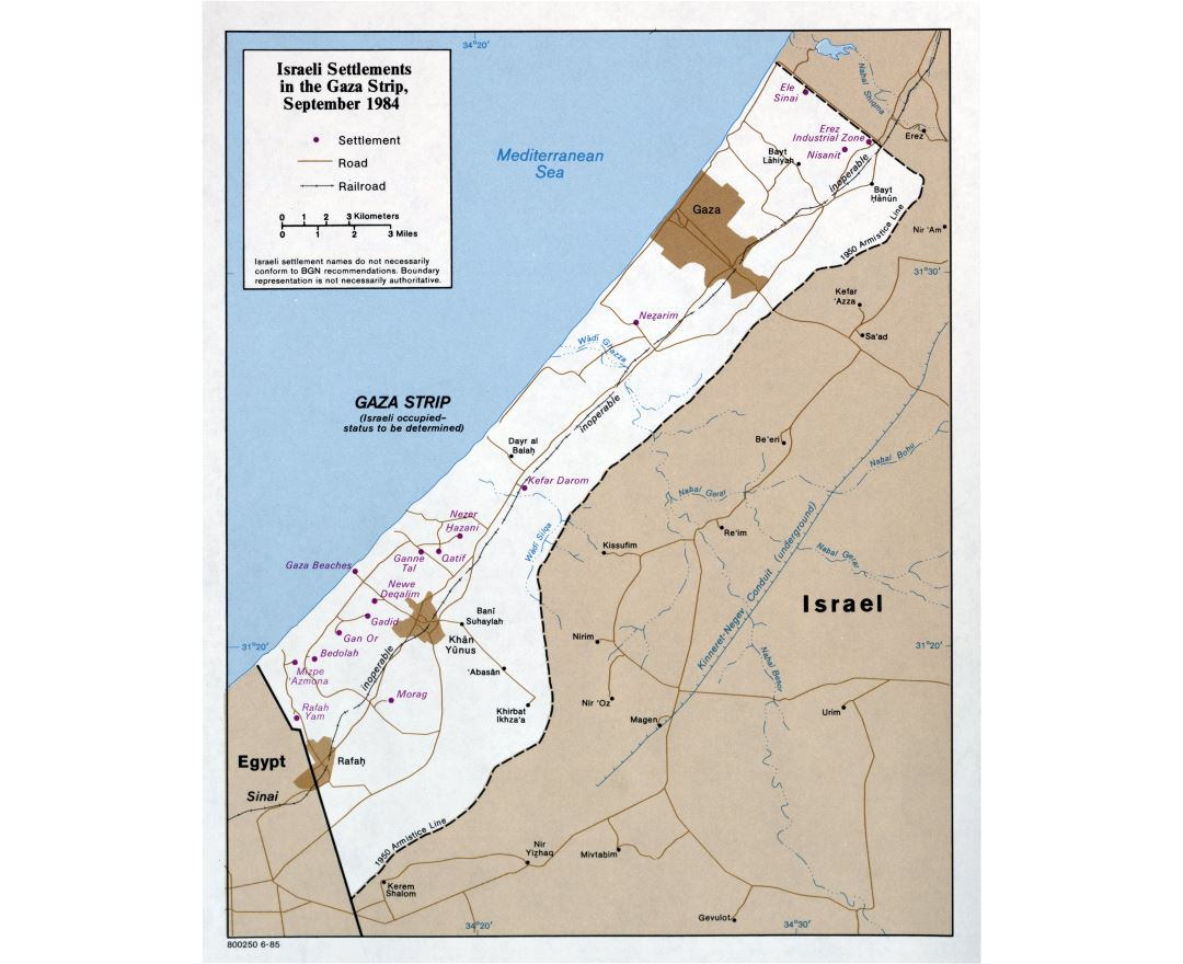 Maps of Gaza Strip | Collection of maps of Gaza Strip | Asia ...
