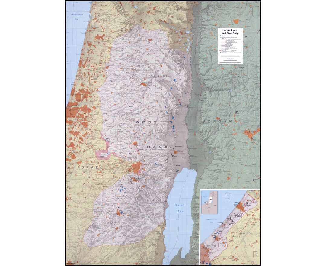 West Bank Wall Map 2014