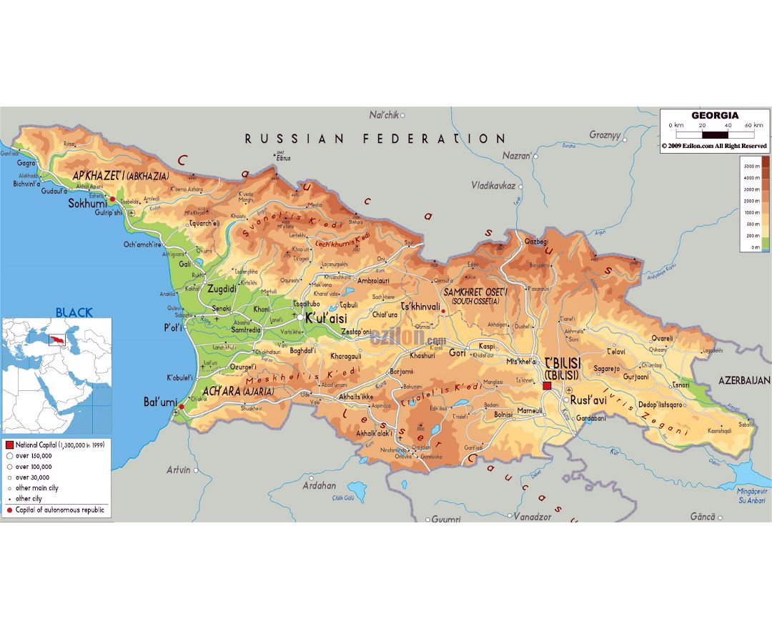 Maps Of Georgia Detailed Map Of Georgia In English Tourist Map - City map of georgia