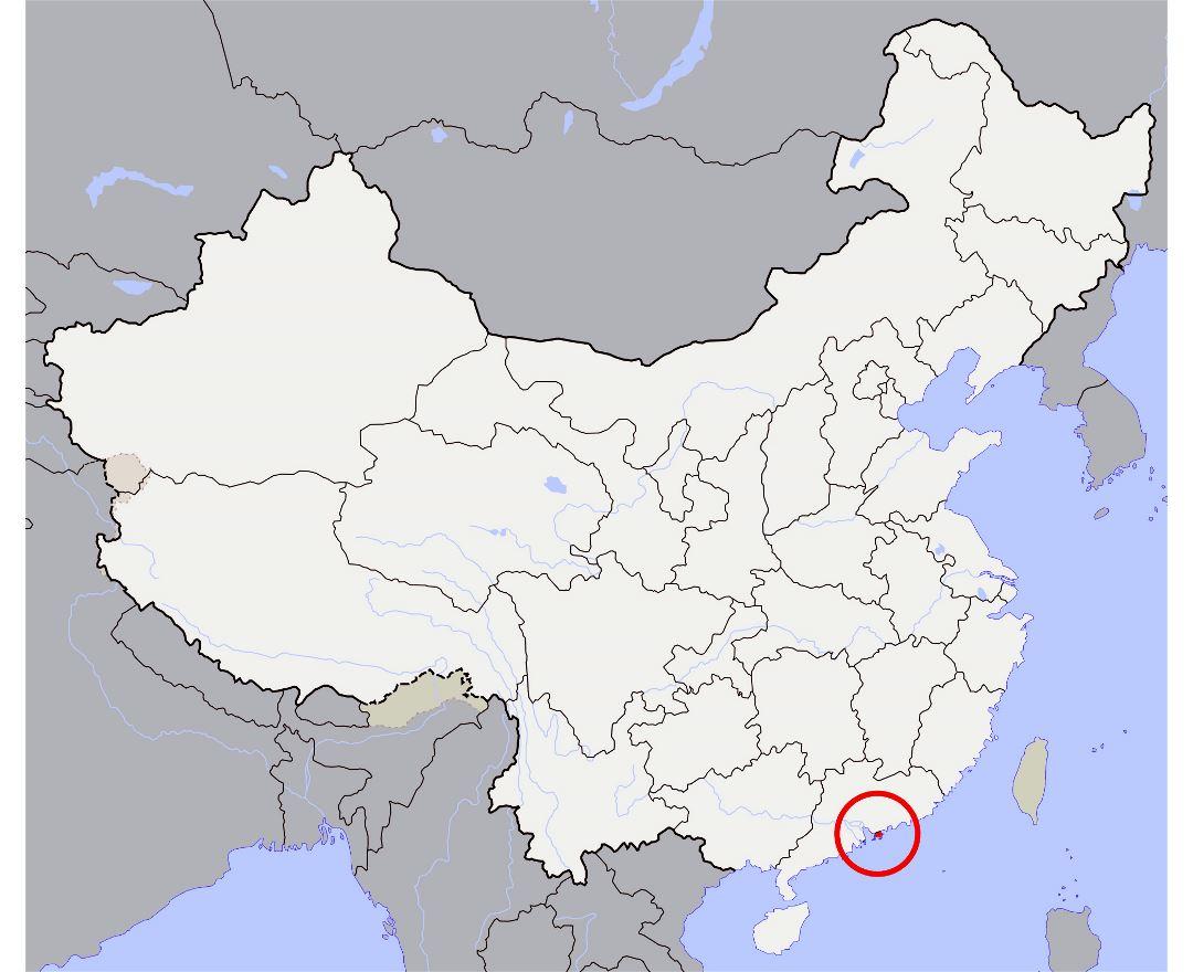 Map Of Hong Kong Island Macau