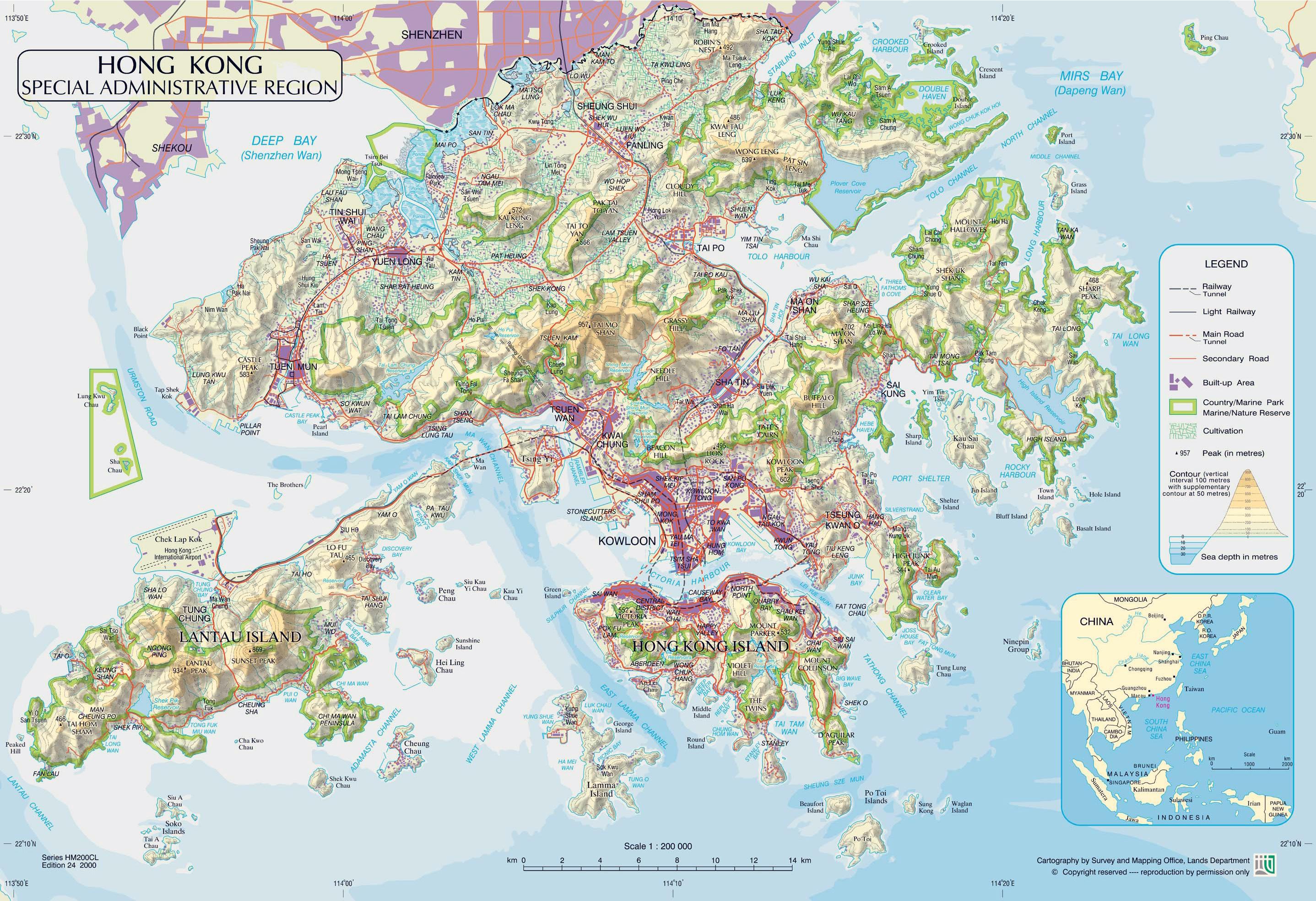 Hong Kong Island Trails Map