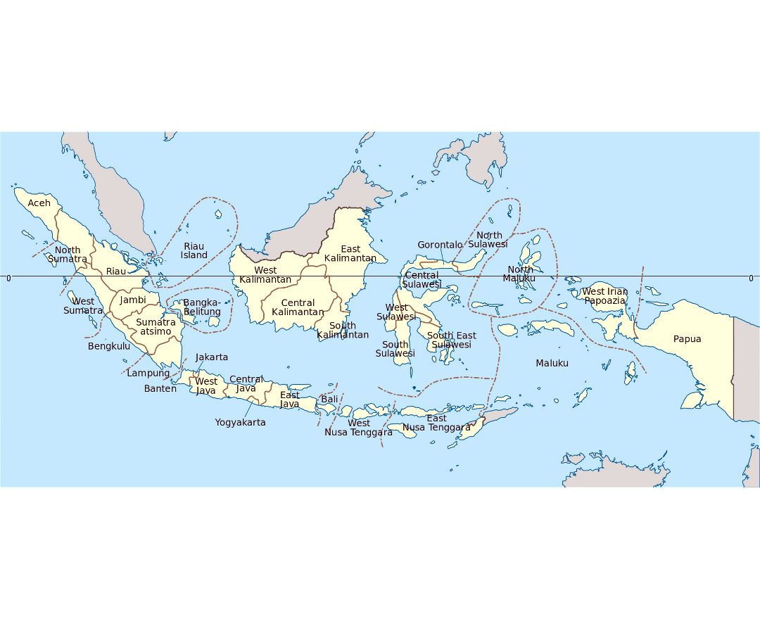 Maps of Indonesia  Detailed map of Indonesia in English  Tourist