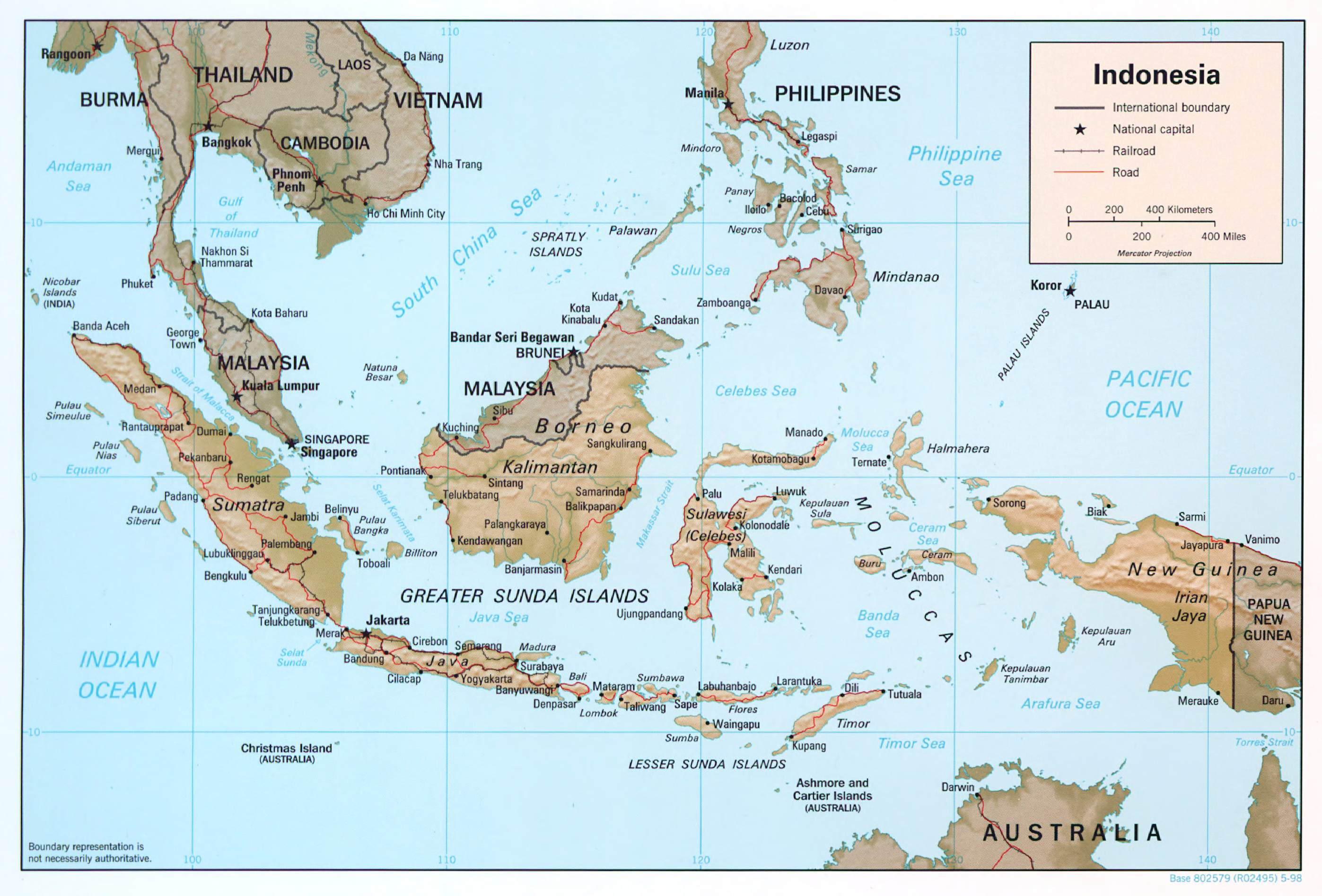 Large Detailed Political Map Of Indonesia With Relief Roads Us Political Map Major Cities