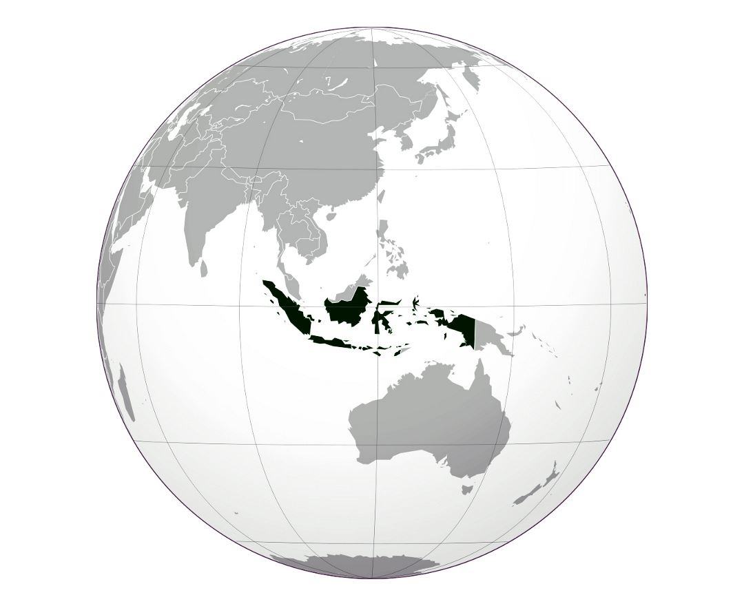 Large location map of Indonesia