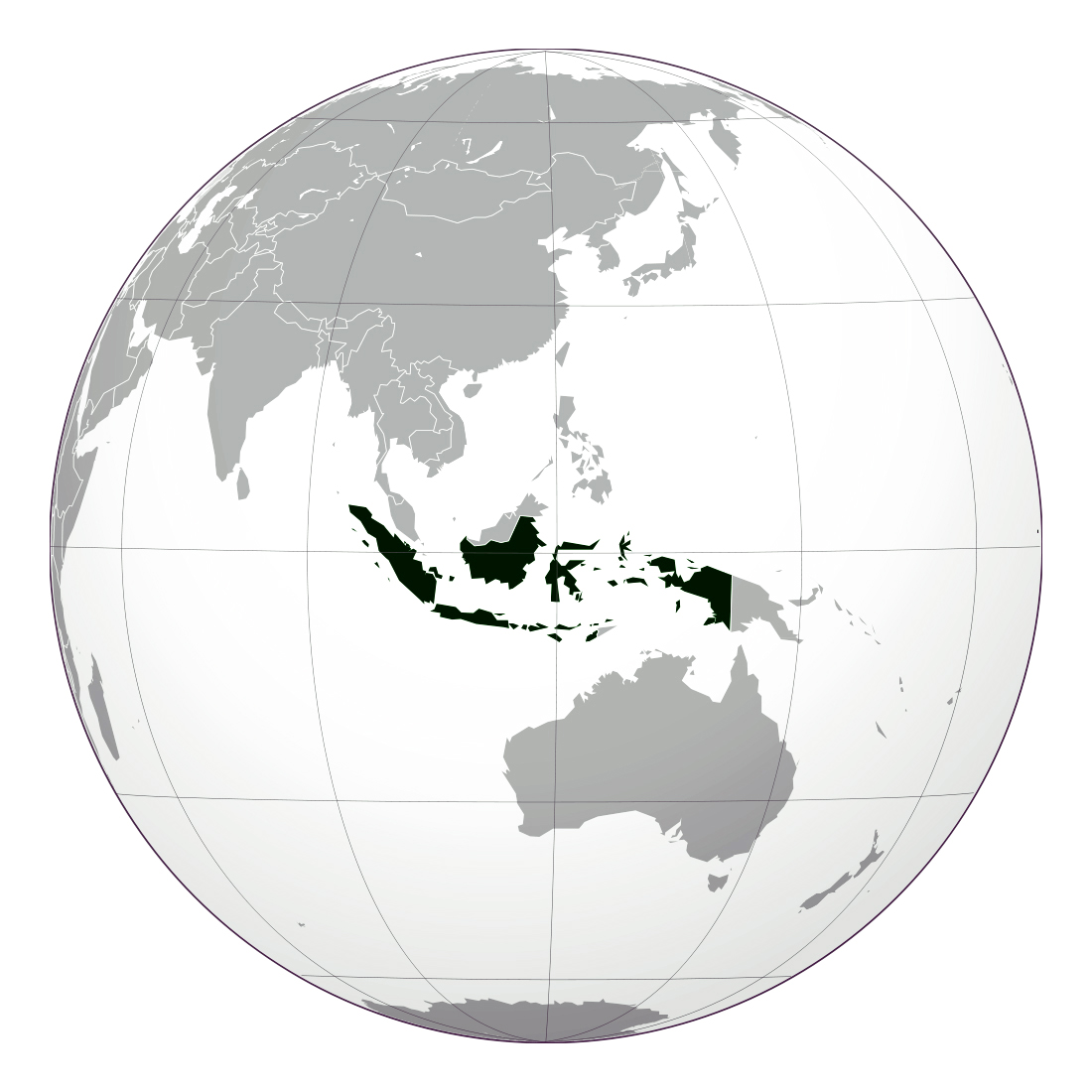Large location map of Indonesia | Indonesia | Asia | Mapsland | Maps ...