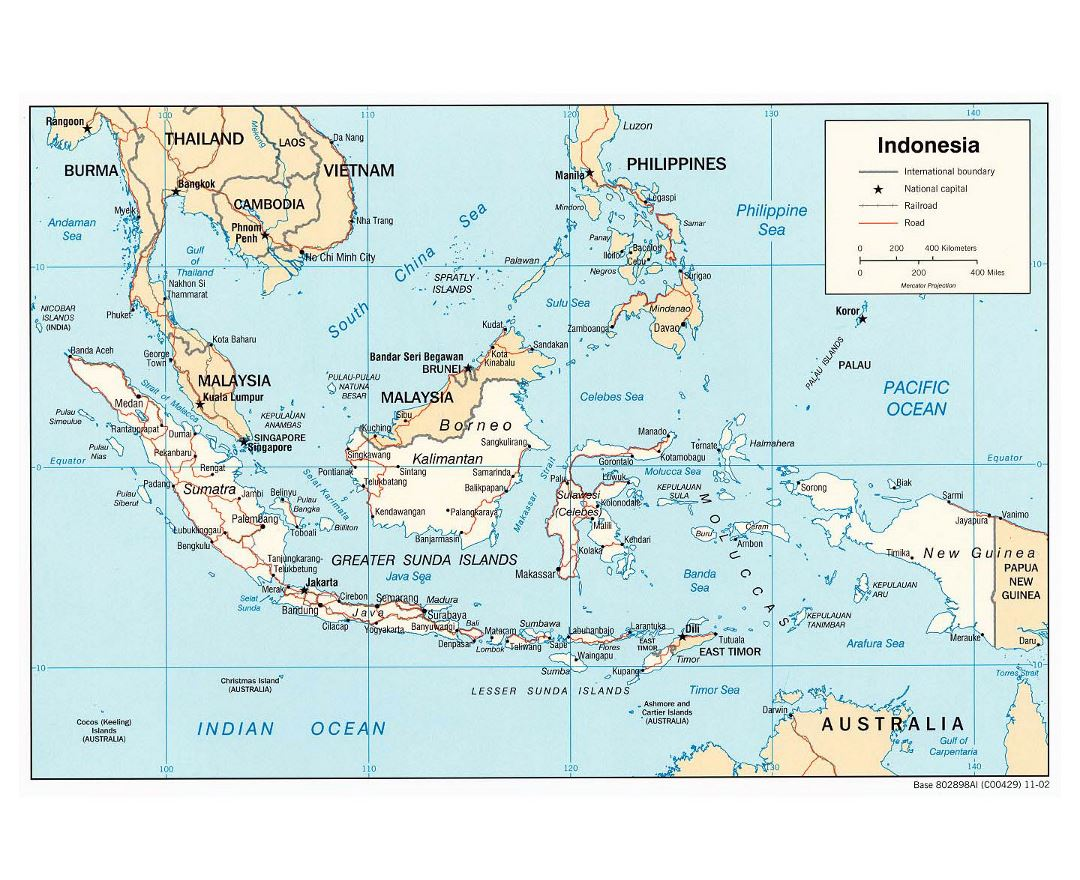 Maps of Indonesia | Collection of maps of Indonesia | Asia ...