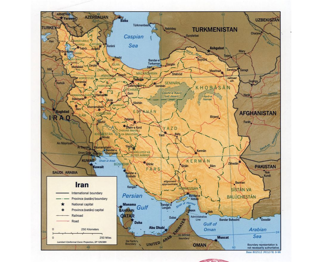 Maps of Iran Detailed map of Iran in English Tourist map travel