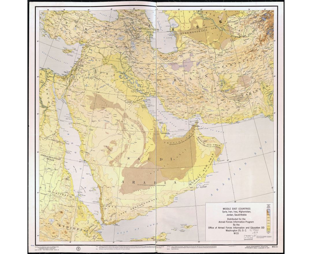 Maps of iran detailed map of iran in english tourist map travel large scale detailed old map of middle east countries syria iran iraq gumiabroncs Gallery