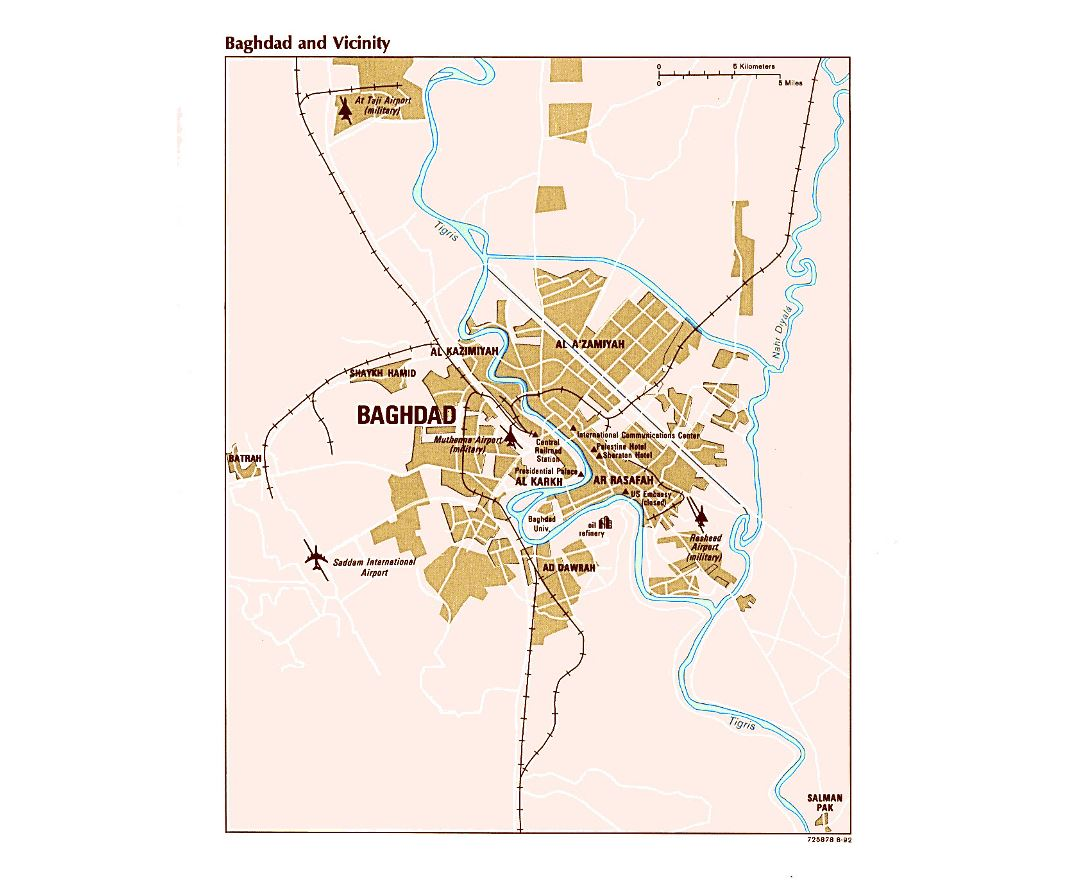 Maps of Baghdad Detailed map of Baghdad in English Tourist map