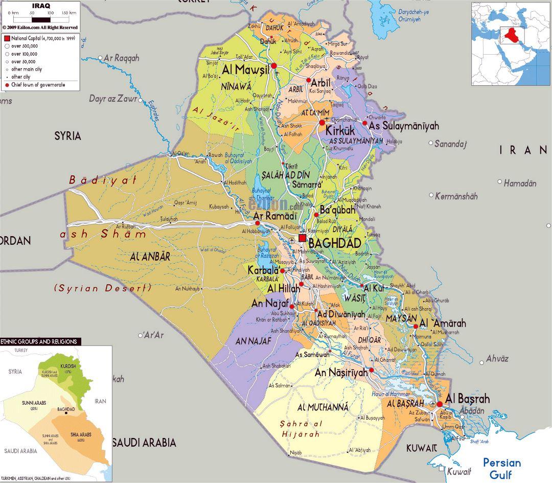 Где находится ирак на карте