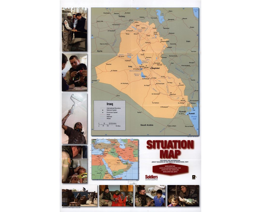 Large scale situation map of Iraq
