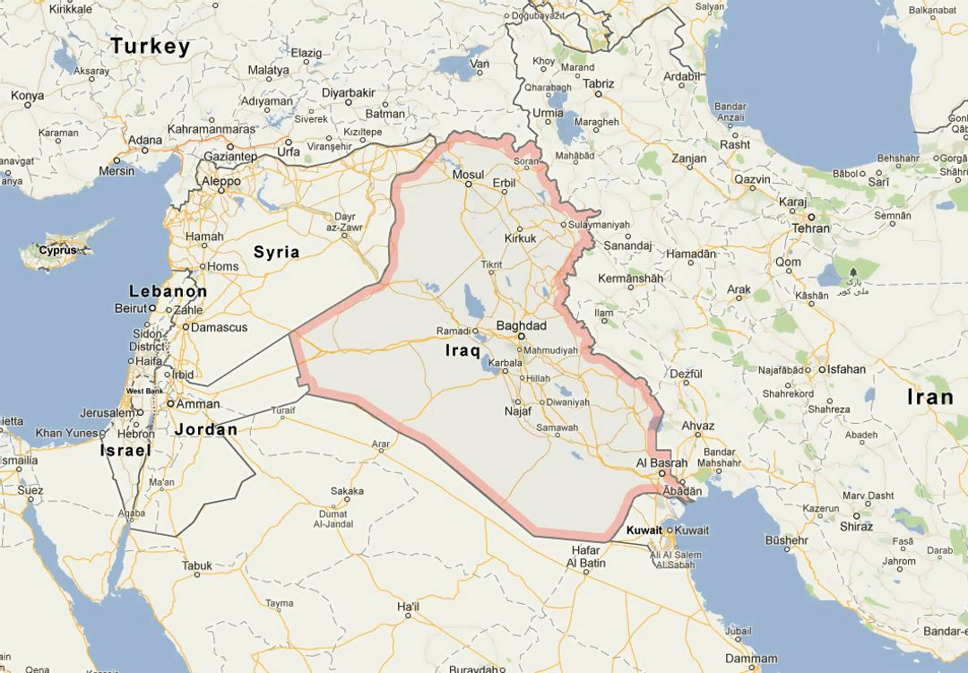 Map of iraq iraq asia mapsland maps of the world map of iraq gumiabroncs Gallery