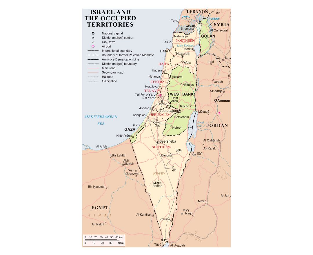 Maps of Israel Detailed map of Israel in English Tourist map