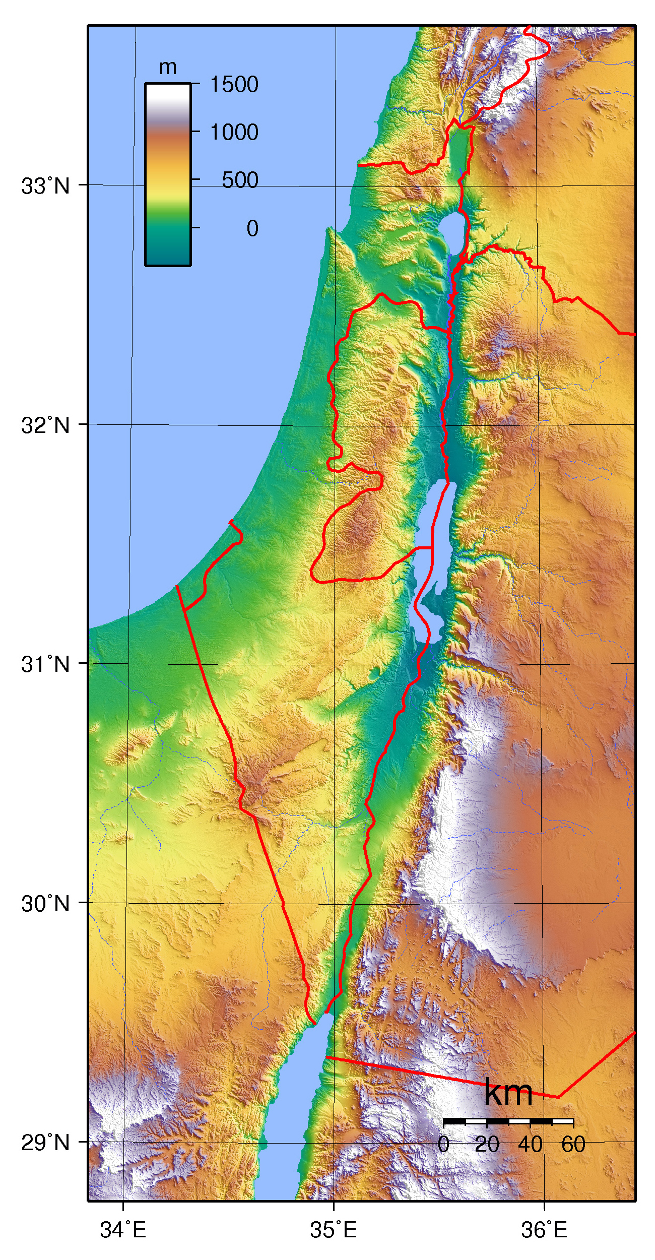 Map Of Asia Israel.Large Topographical Map Of Israel Israel Asia Mapsland Maps