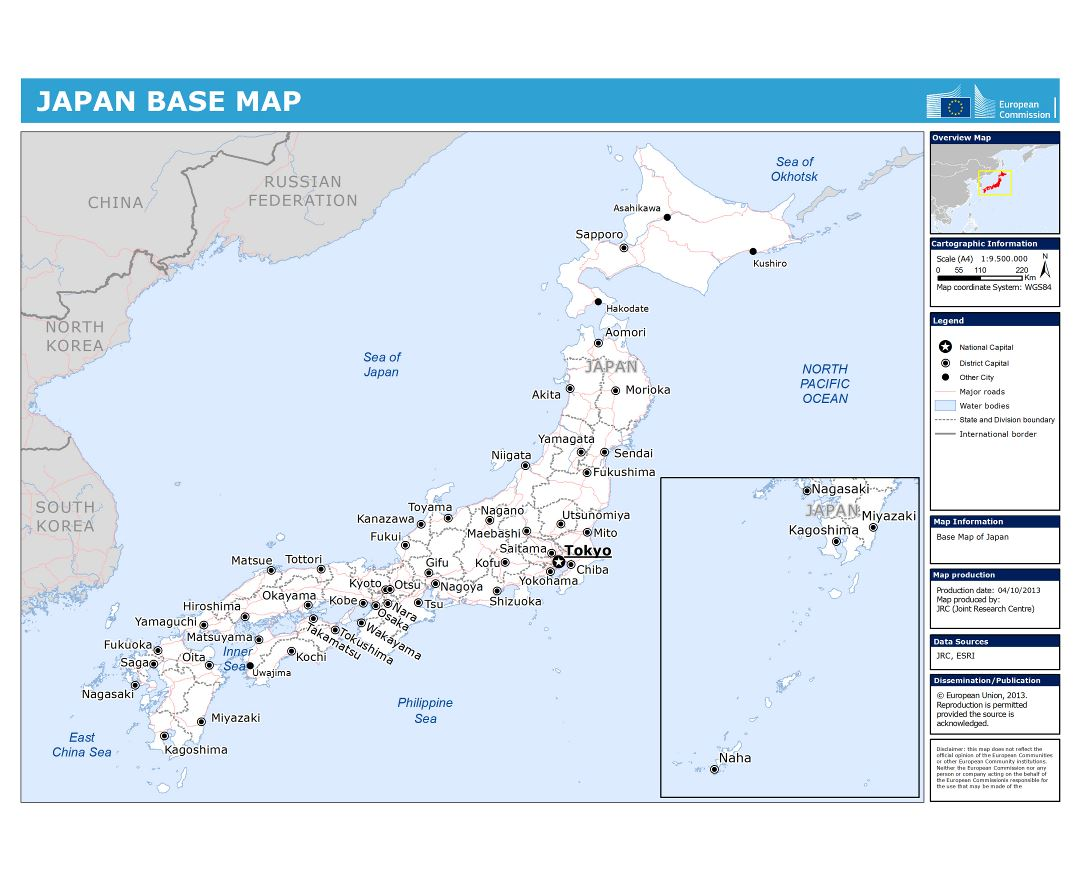 Maps of Japan   Detailed map of Japan in English   Tourist map ...