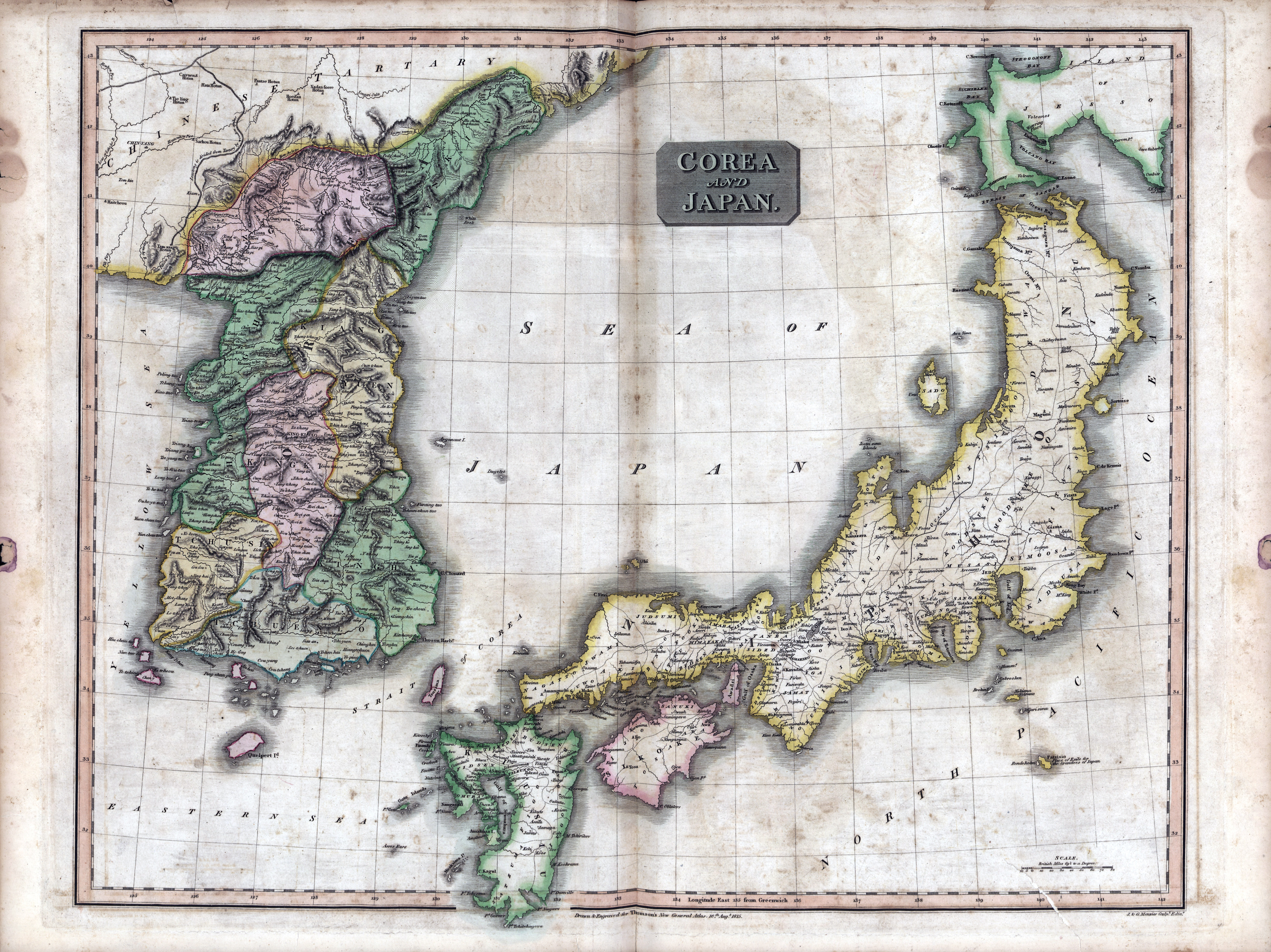 Large scale detailed old political map of japan and korea 1815 large scale detailed old political map of japan and korea 1815 gumiabroncs Image collections