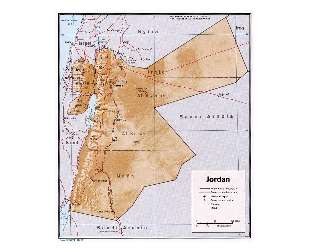 Maps of Jordan Detailed map of Jordan in English Tourist map
