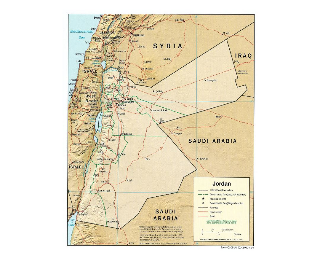 Jordan Political Map.Maps Of Jordan Collection Of Maps Of Jordan Asia Mapsland