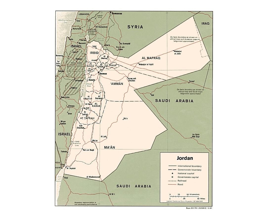 Political Map Of Jordan.Maps Of Jordan Collection Of Maps Of Jordan Asia Mapsland