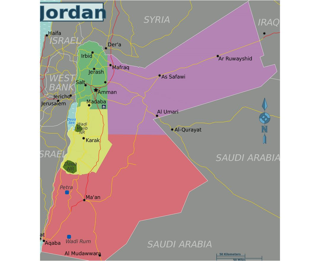 Maps Of Jordan Detailed Map Of Jordan In English Tourist Map - Jordan map