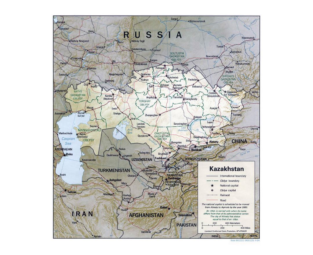 Kazakhstan Political Map.Maps Of Kazakhstan Collection Of Maps Of Kazakhstan Asia