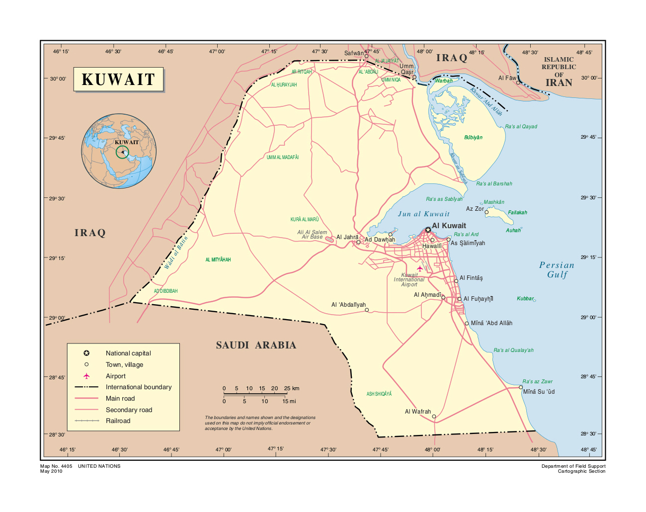 kuwait political map image collections