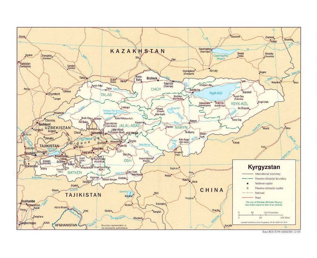 Maps of Kyrgyzstan | Collection of maps of Kyrgyzstan | Asia ...