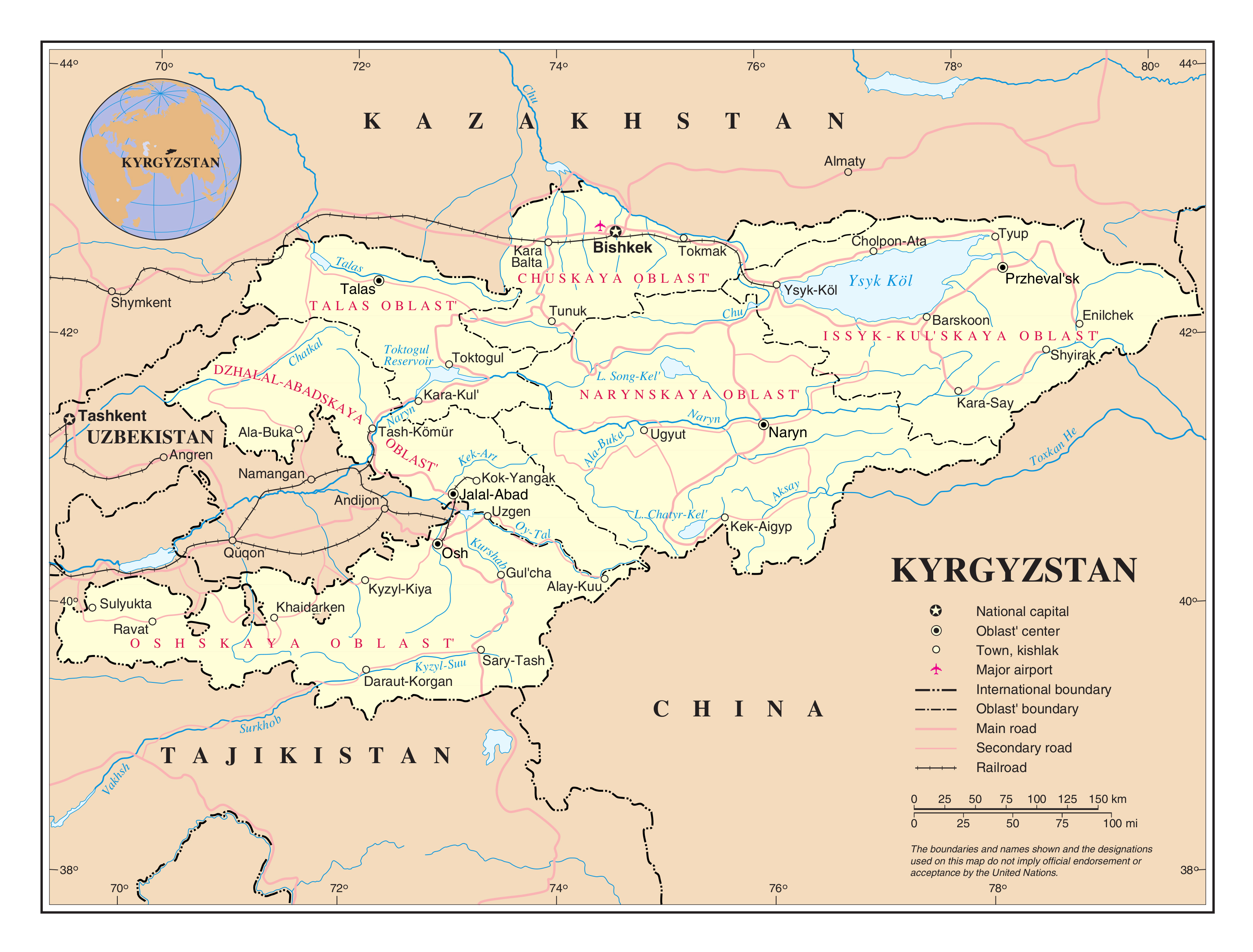 Large detailed political and administrative map of ...