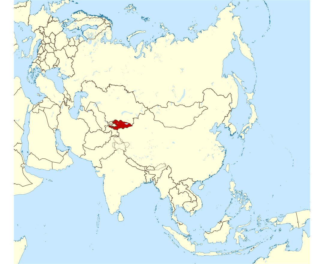 Maps of kyrgyzstan detailed map of kyrgyzstan in english tourist large location map of kyrgyzstan in asia gumiabroncs Image collections