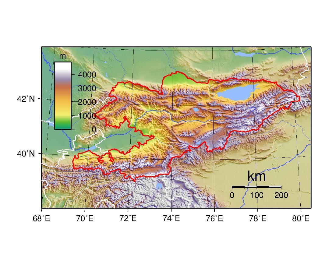 Map Of Asia Kyrgyzstan.Maps Of Kyrgyzstan Collection Of Maps Of Kyrgyzstan Asia