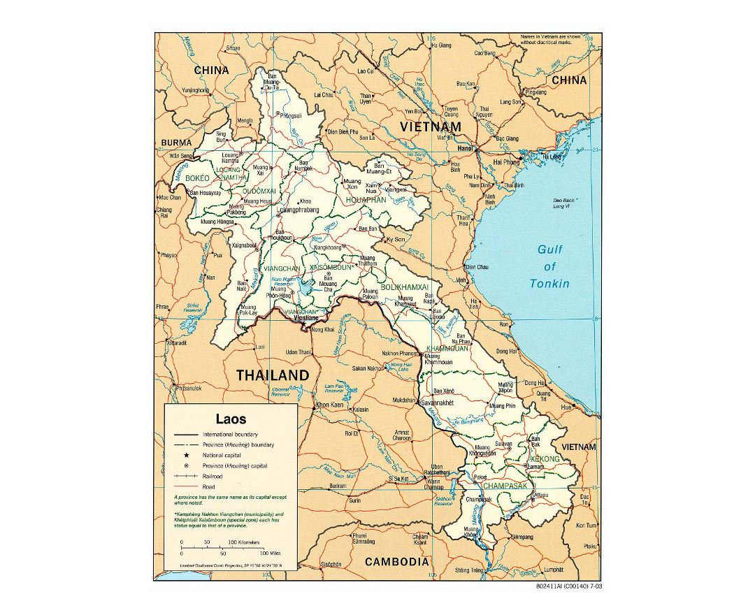 Maps of Laos | Collection of maps of Laos | Asia | Mapsland | Maps ...