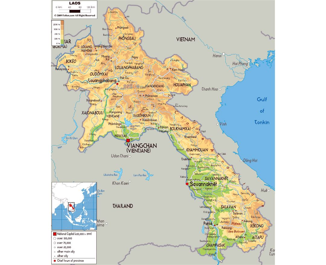 Maps of Laos | Detailed map of Laos in English | Tourist map (travel ...