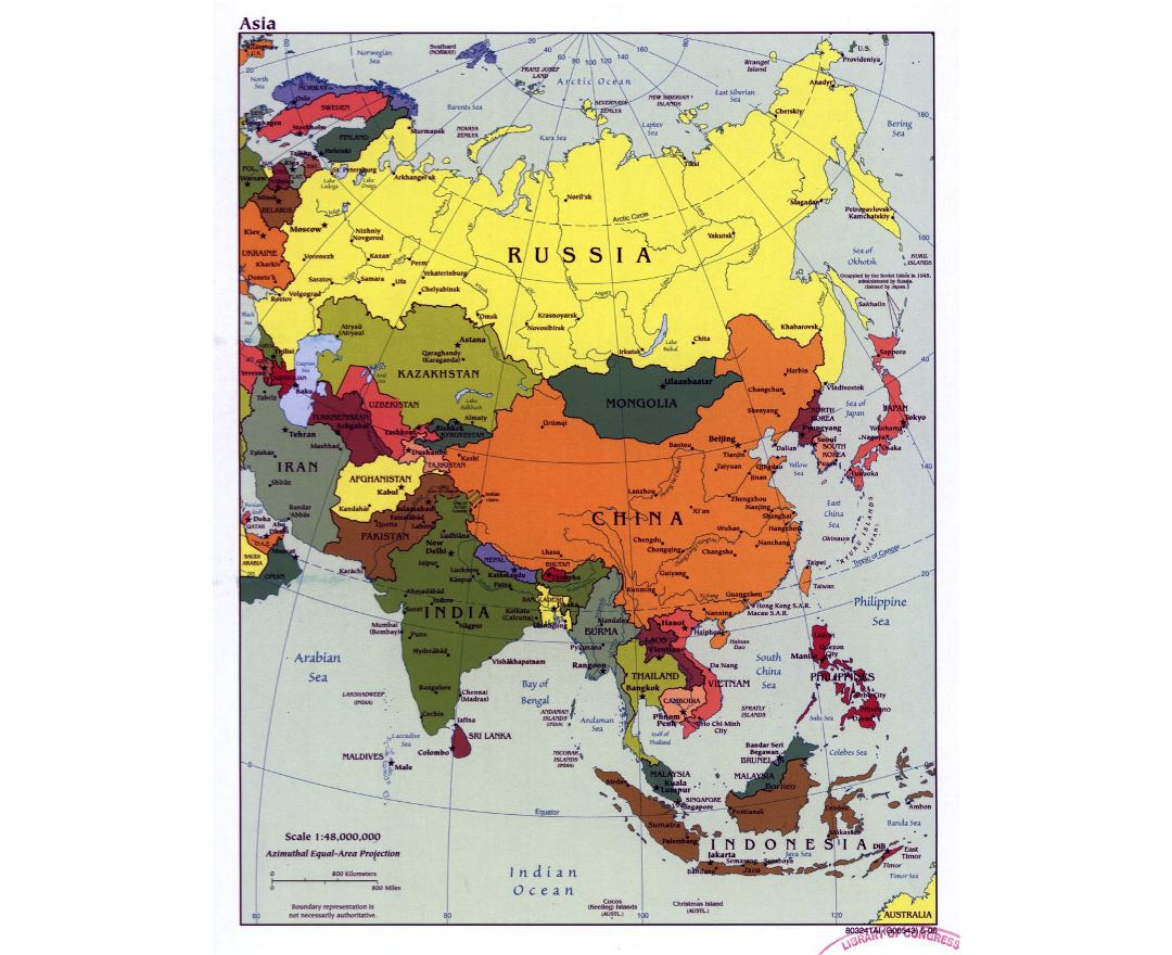 Maps of Asia and Asian countries Political maps Road and Railways