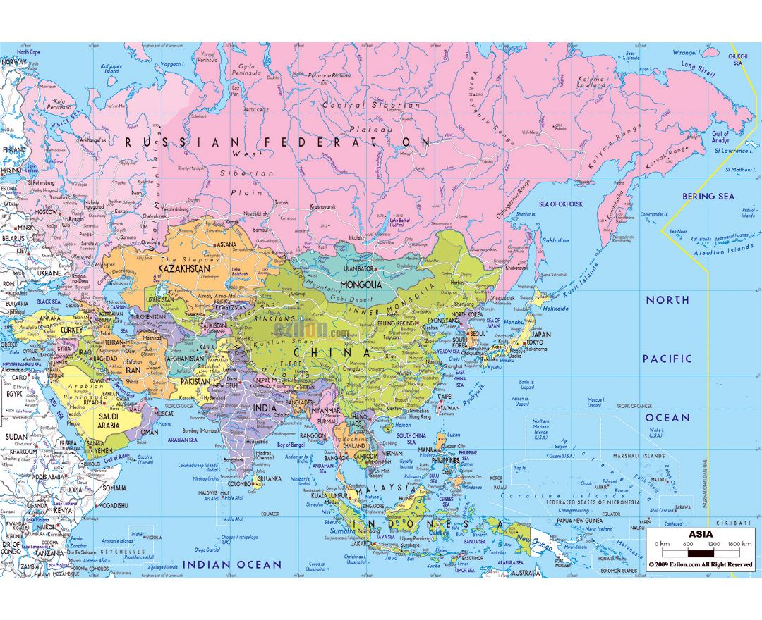 Maps of Asia and Asian countries | Collection of maps of Asia ...