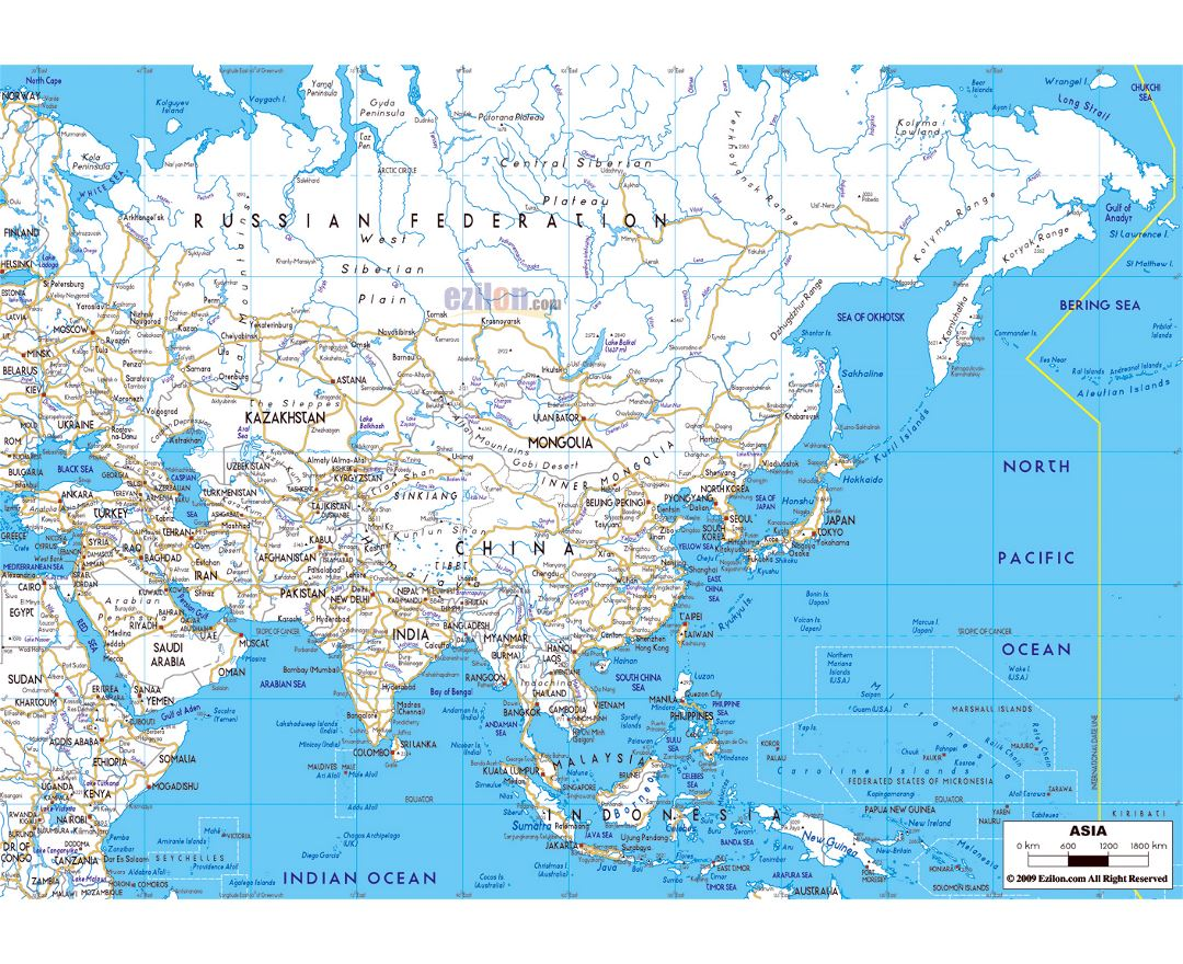 Large Map Of Asia.Maps Of Asia And Asian Countries Collection Of Maps Of