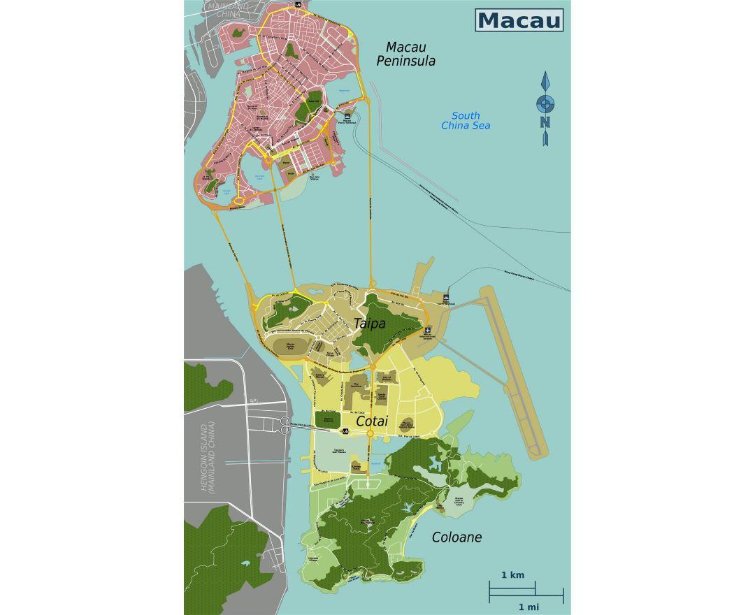 Maps Of Macau Detailed Map Of Macau In English Tourist Map - Macau map