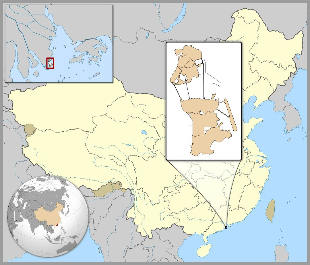 Large location map of Macau