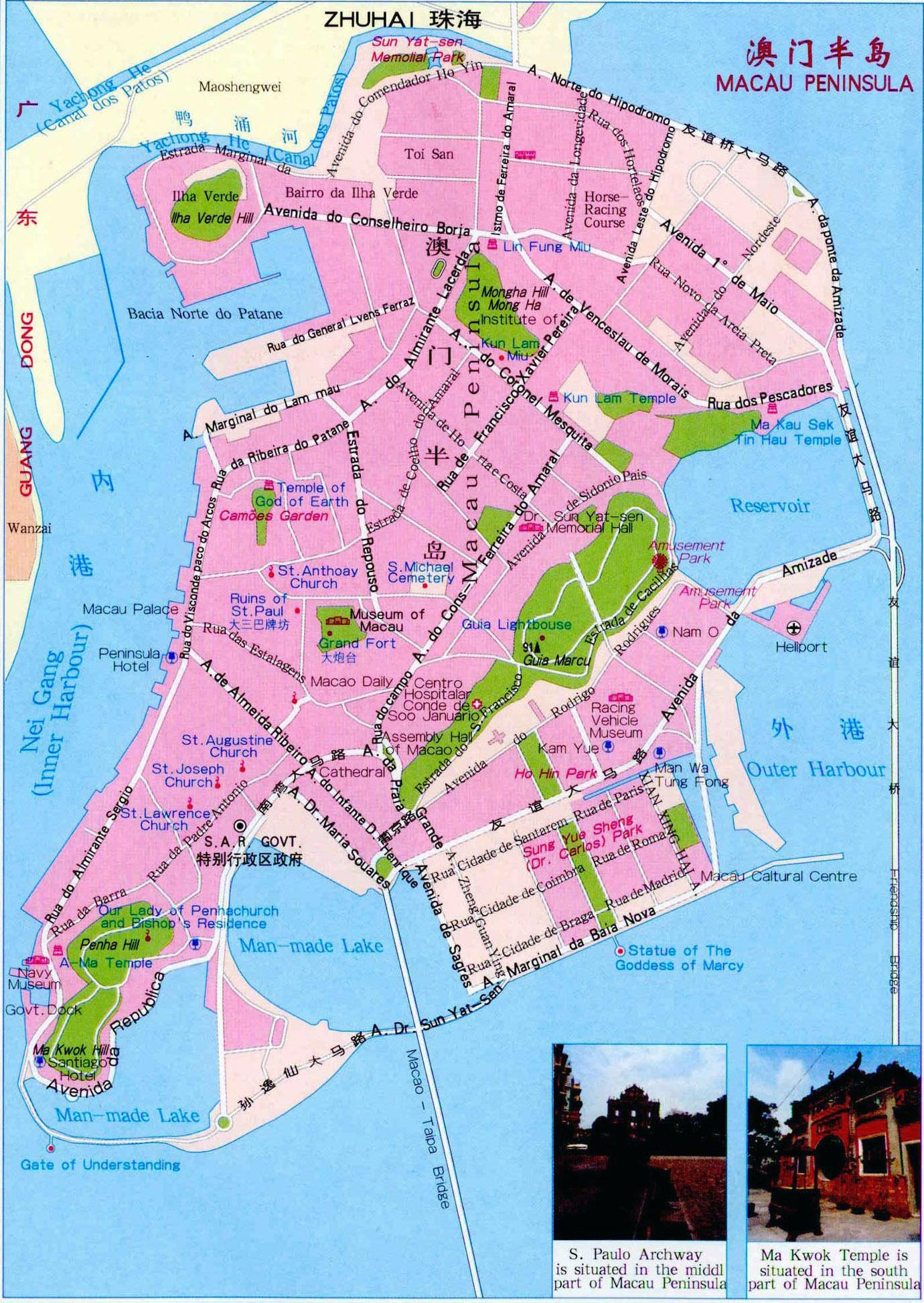Macau On World Map.Large Road Map Of Macau Macau Asia Mapsland Maps Of The World