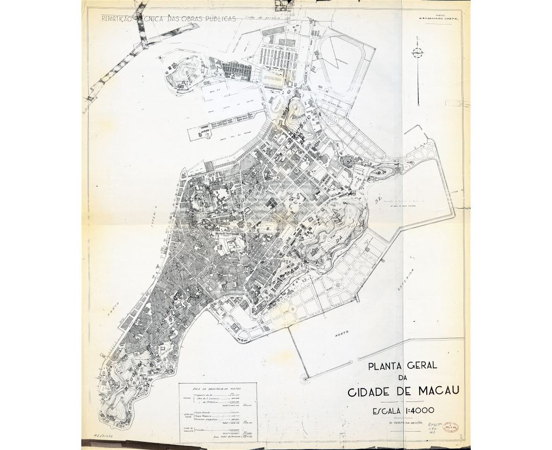 Large scale detailed old general map of Macau - 193x