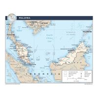 Detailed tourist and administrative map of West Malaysia ...