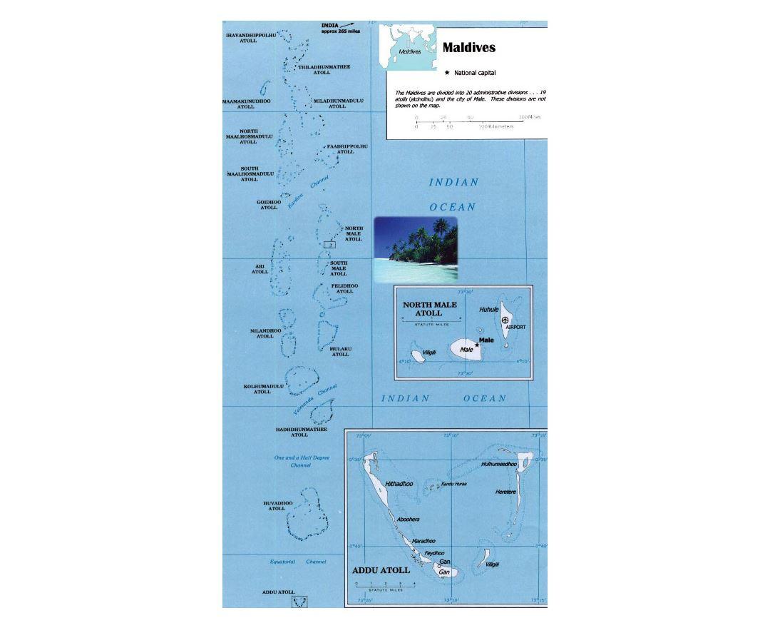 Maps Of Maldives Detailed Map Of Maldives In English Tourist - Maldives map india