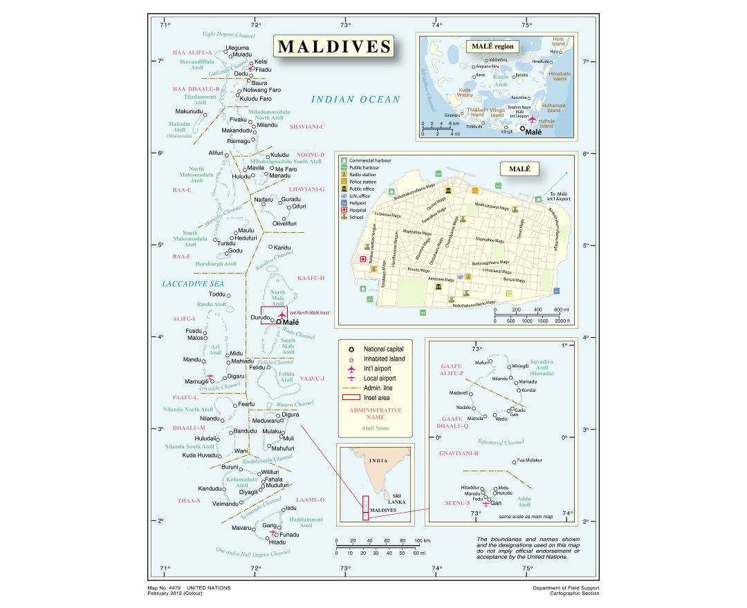 Maps Of Maldives Detailed Map Of Maldives In English Tourist - Political map of maldives
