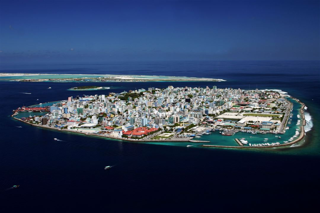 Large detailed panoramic photo of Male city