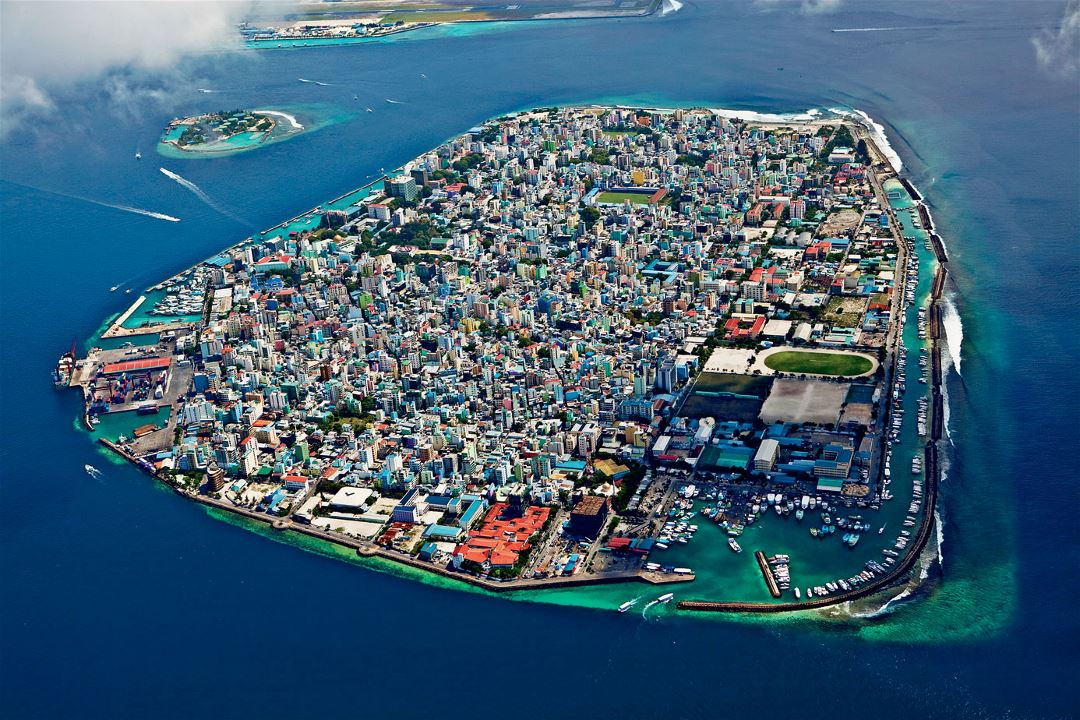 Large panoramic photo of Male city