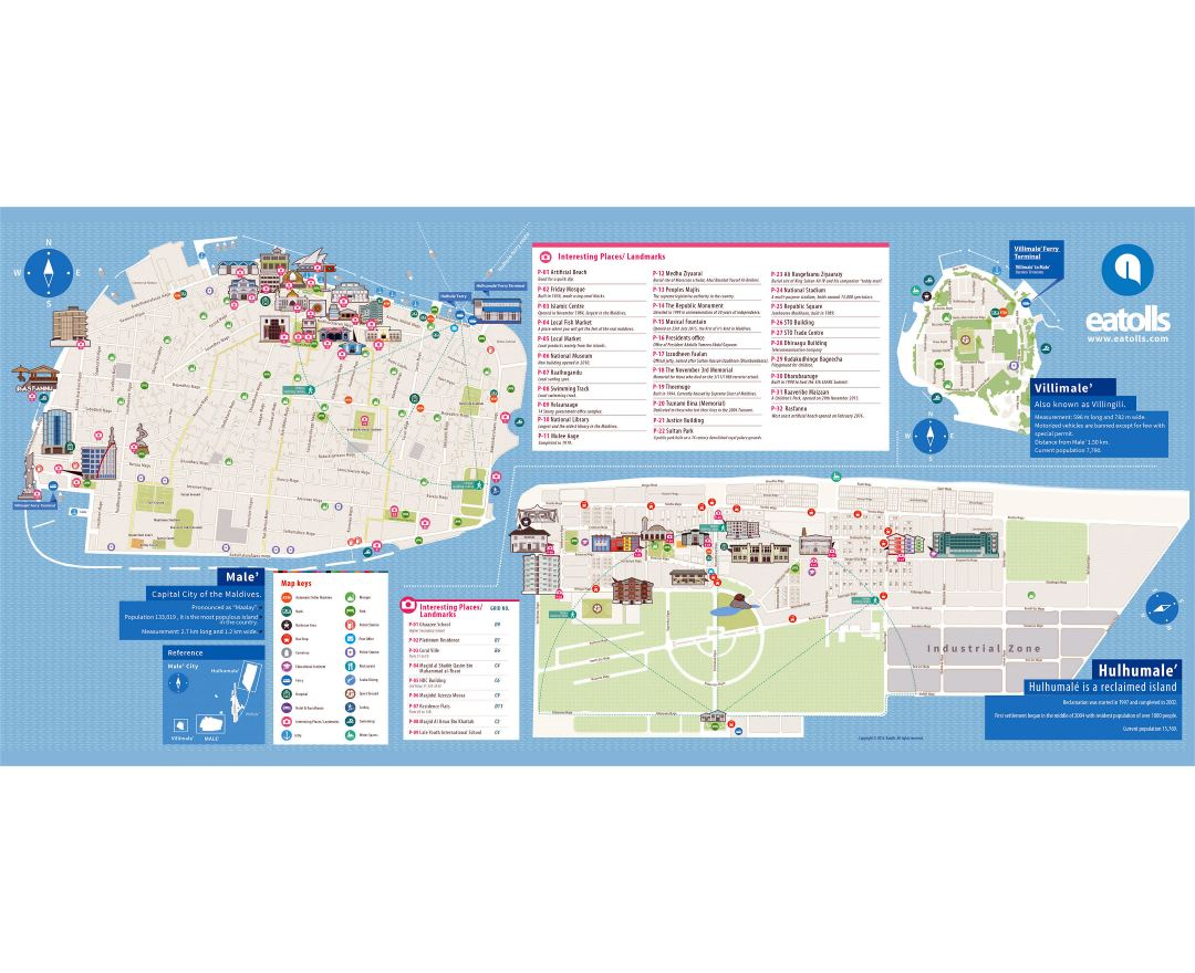 Maps Of Male Detailed Map Of Male In English Tourist Map - male map