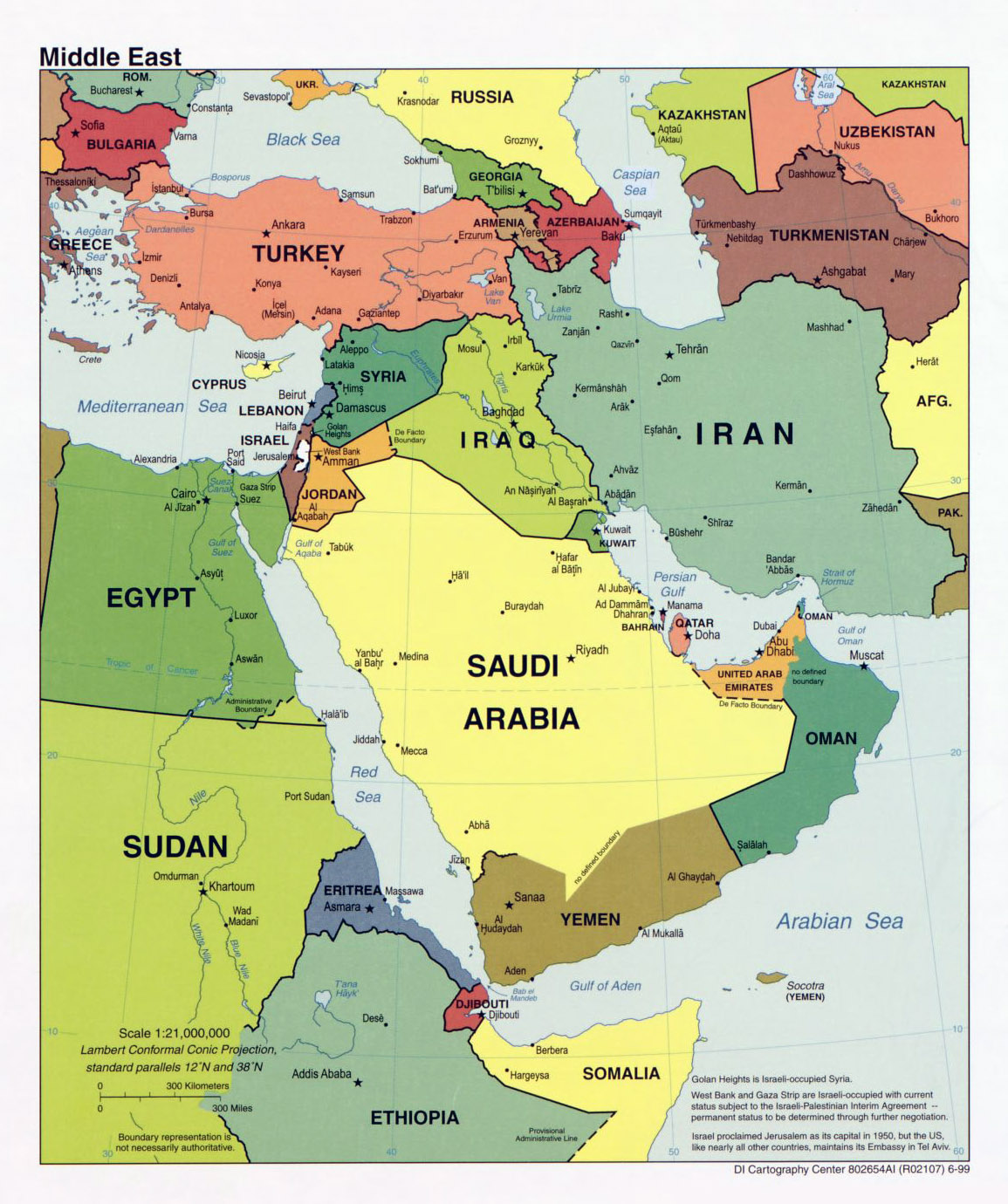 Detailed political map of the middle east with major cities and detailed political map of the middle east with major cities and capitals 1999 gumiabroncs Image collections