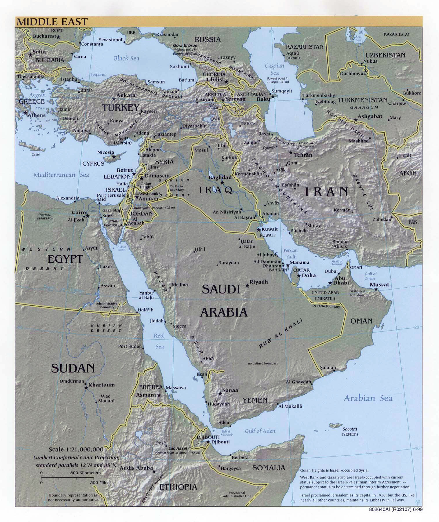 Large detailed political map of the middle east with relief major large detailed political map of the middle east with relief major cities and capitals gumiabroncs Image collections