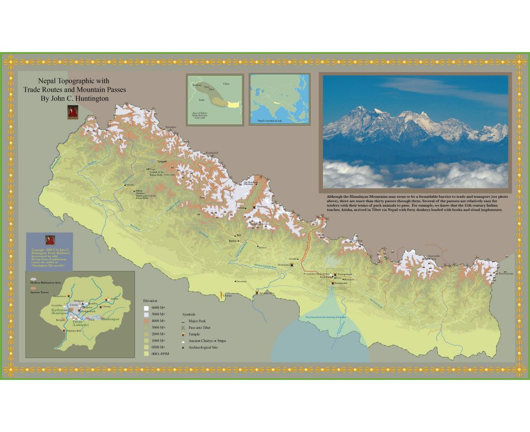 Maps of Nepal | Collection of maps of Nepal | Asia | Mapsland | Maps ...
