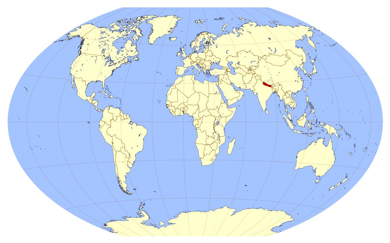 Large location map of Nepal | Nepal | Asia | Mapsland | Maps ...