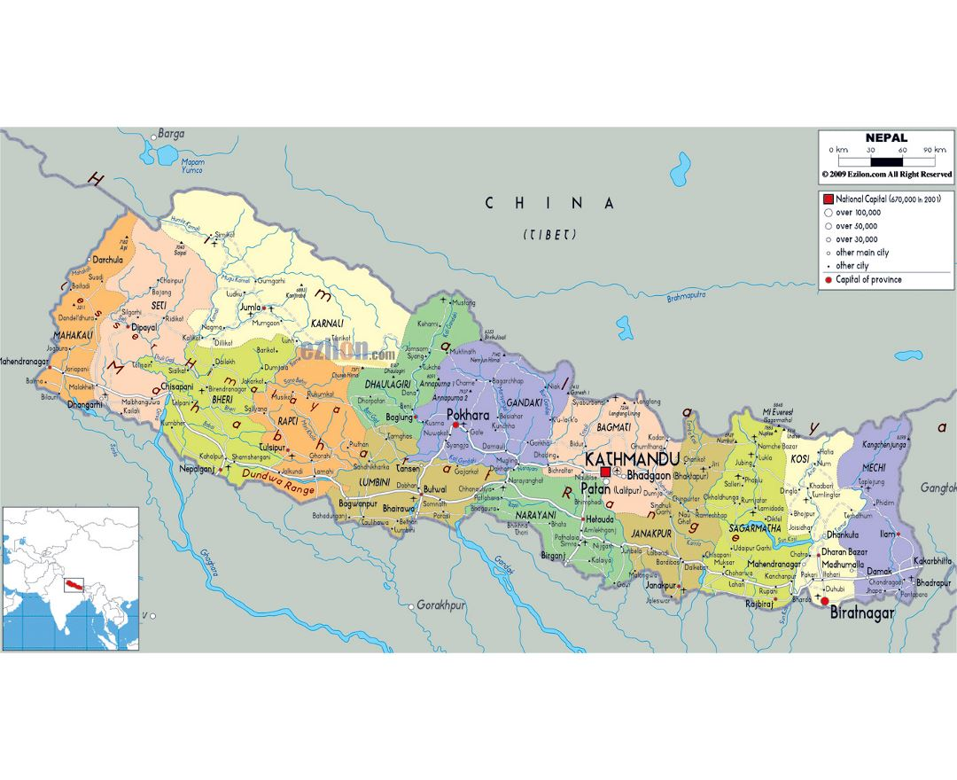 Maps Of Nepal Detailed Map Of Nepal In English Tourist Map - Map of nepal